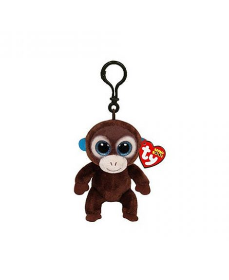 Clip porte-clé peluche BeanieBoos COCONUT le singe - www.beanieboos.fr