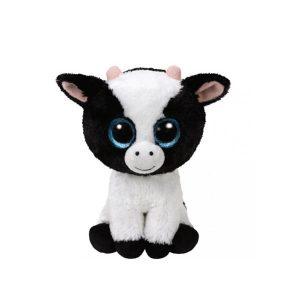 Peluche vache 15cm Beanie Boos DAISY noire et blanche - www.beanieboos.fr