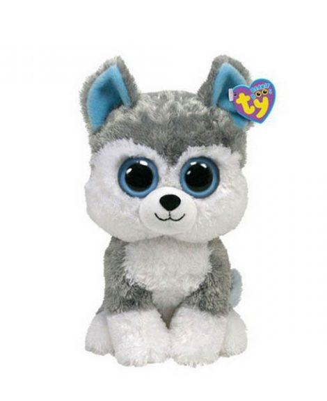Peluche Chien Husky Beanie Boos 15 cm SLUSH gris et blanc - www.beanieboos.fr