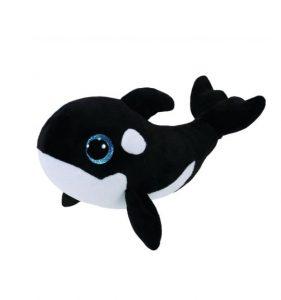 Peluche Baleine Beanie Boos 15 cm NONA noire et blanche