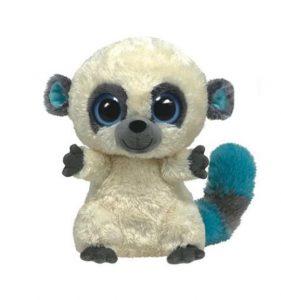 Peluche lémurien Beanie Boos 15 cm CLEO blanche et bleu