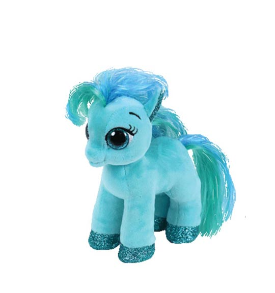 peluche-poney-beanie-boos-bleu