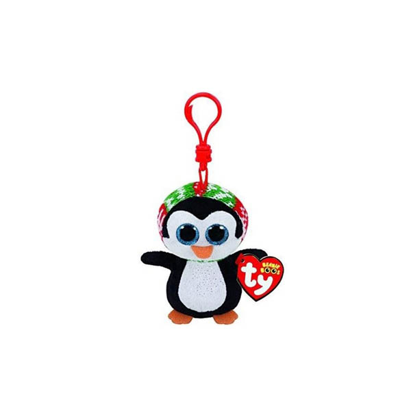 Porte-clé peluche pingouin WADDLES collection Beanie Boos-www.beanieboos.fr