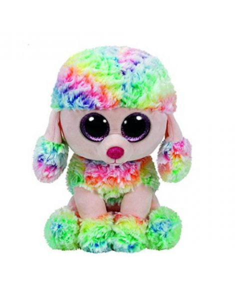 Peluche chien caniche Beanie Boos 15 cm POOFY Multicolore -www.beanieboos.fr